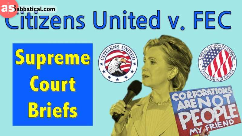 The poster for the fated Citizens United vs. FEC case.