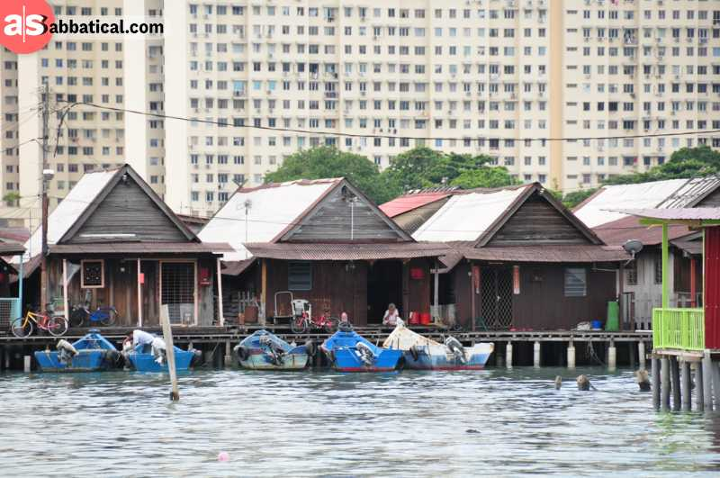 Clan Jetties is the water village on the Penang island.