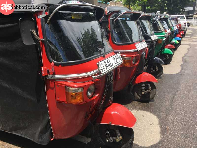 Try not to miss a tuk-tuk ride while you're in Colombo!