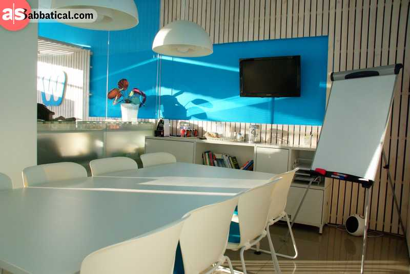 Conference rooms are an another great addition you get when investing into a coworking space.