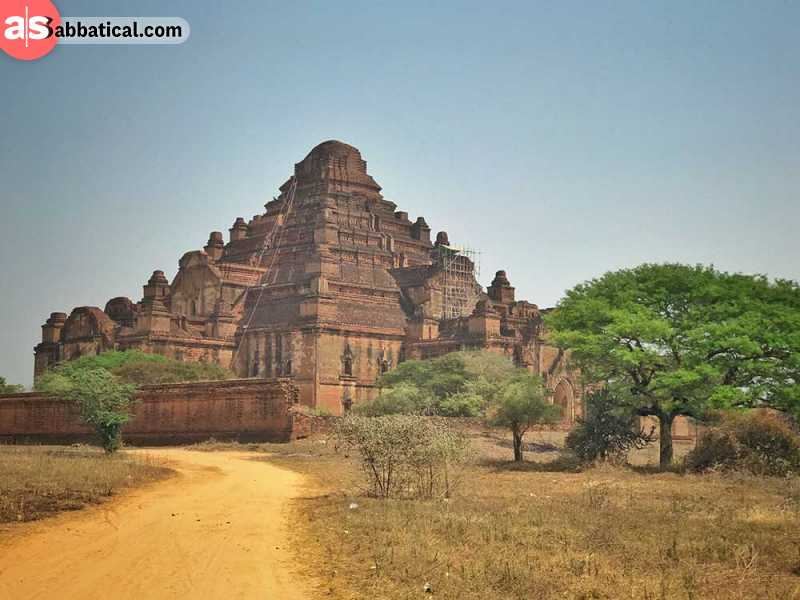 Dhammayangyi Temple is a massive Buddhist temple, one of the many temples in Bagan.