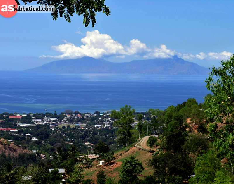 Dili and Atauro Island in the distance.