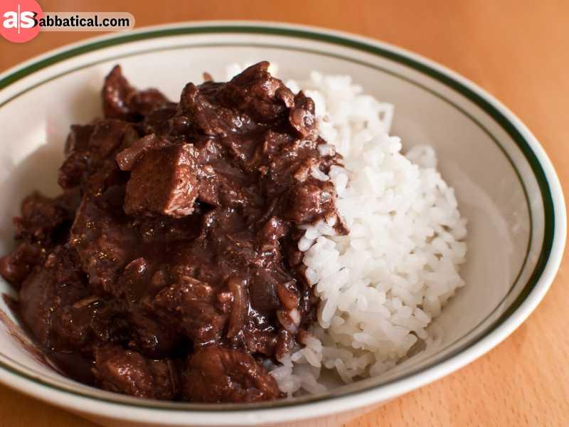 Dinuguan is a strange Filipino dish made of pork blood.