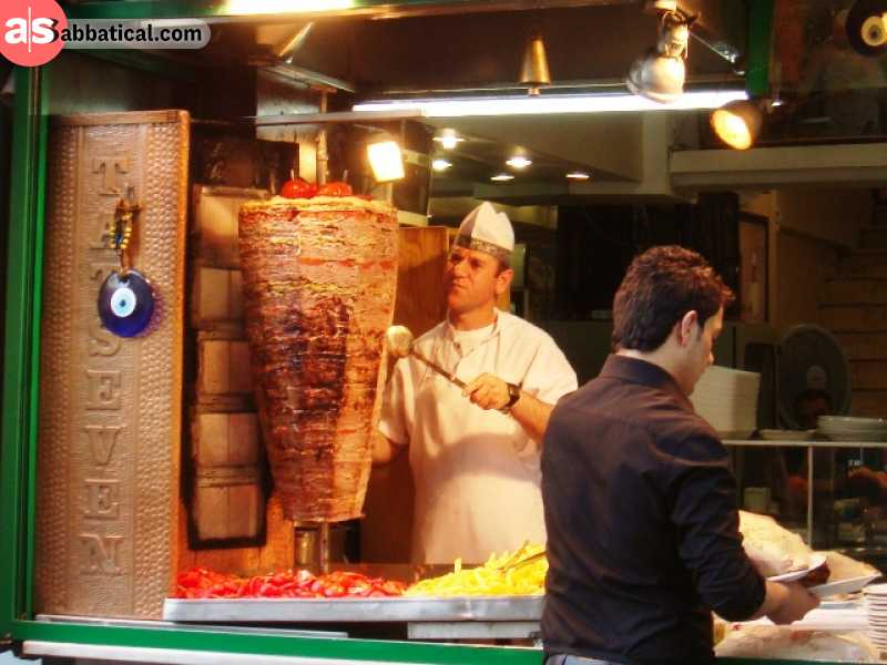 Doner kebab is the rotating one, that is imported all round the world.