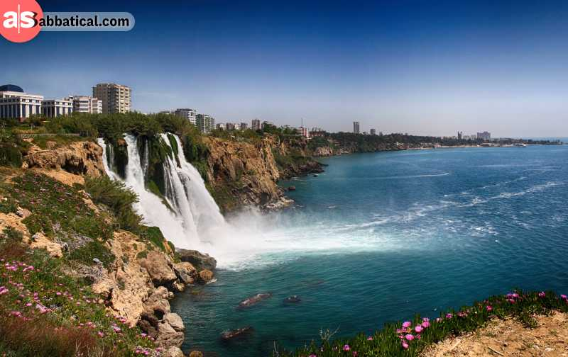 You can go see the magnificent Duden Waterfalls by yacht.