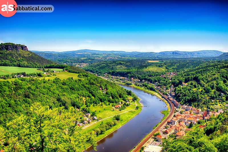 Elbe Valley is the strikingly beautiful part of Saxony.