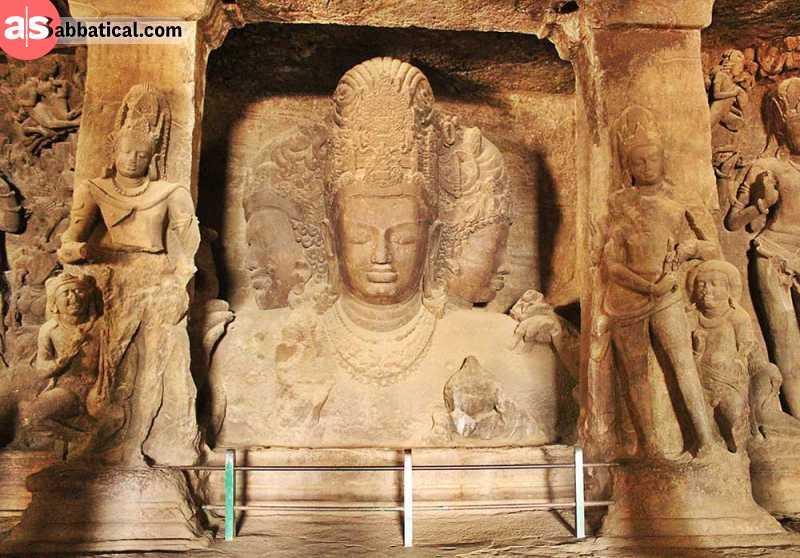 Elephanta Caves are very important in Hindi history.