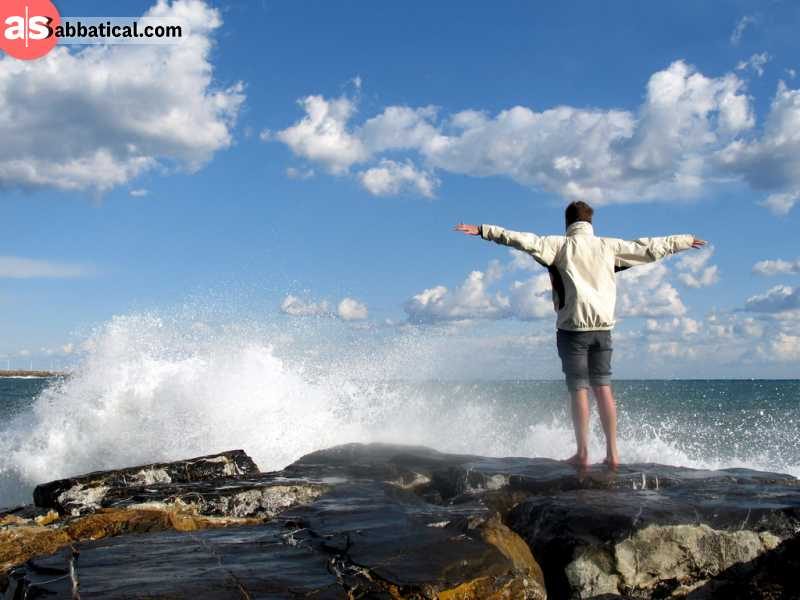 Embracing the freedom when freelancing full time is a great way to have your batteries recharged!