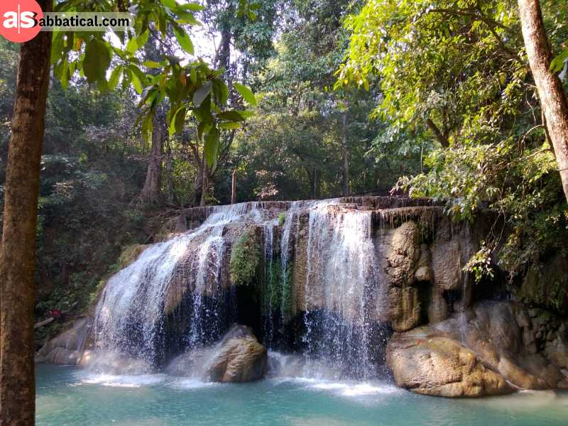 You can easily get to the natural paradise that is Erawan Waterfall from Bangkok.