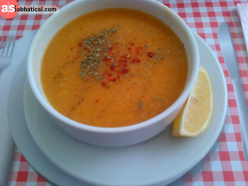 Ezogelin soup is full of red lentils.