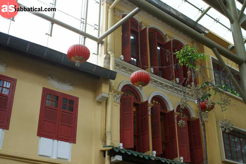 Far East Square in Singapore is the result of the Chinese influence on the capital.