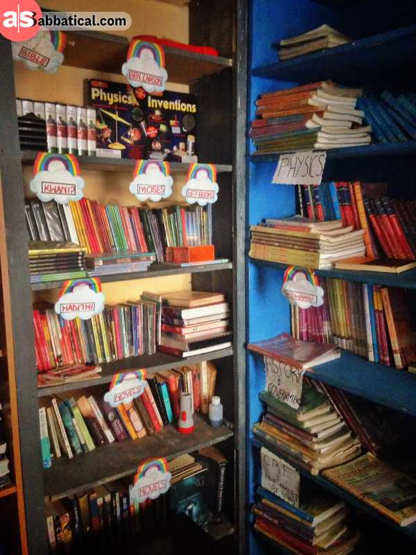 bookshelf in african school representing why you should be reading more