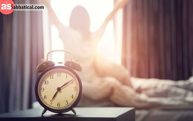 Your new freelance schedule will most likely make you wake up earlier than usual.