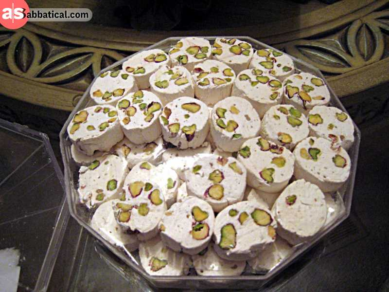 Gaz Candy is a famous Iranian dessert made with nougat.