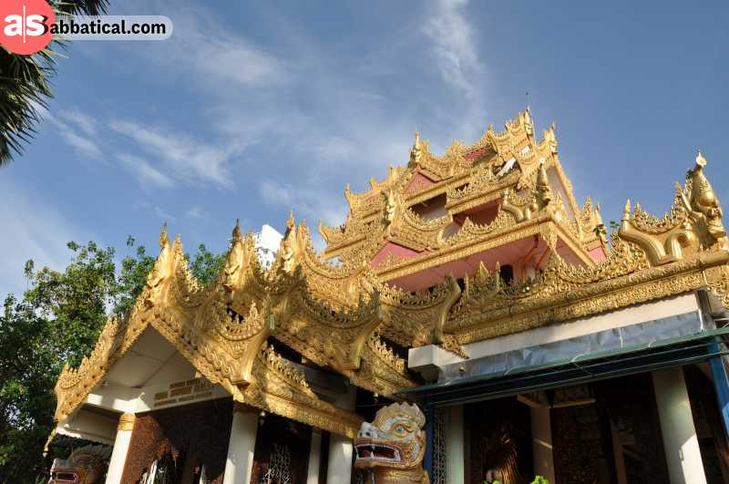 Dhammikarama Burmese Temple represents the Burmese cultural influence in George Town.