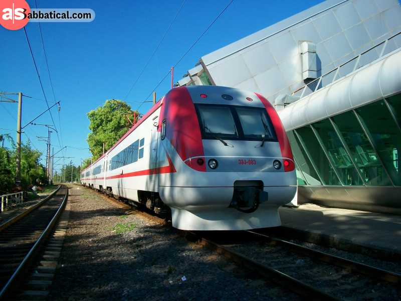 Where is Georgia, the railway transport has become a viable option.