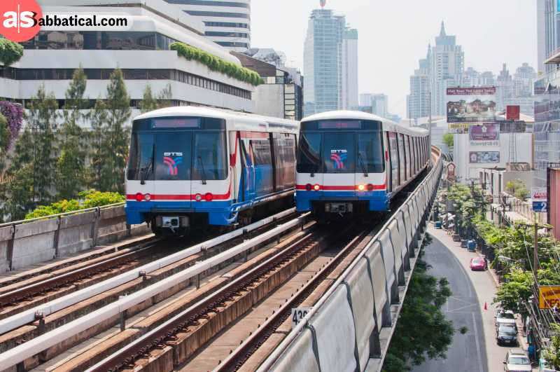 BTS Skytrain is one of the best ways of getting around Bangkok.