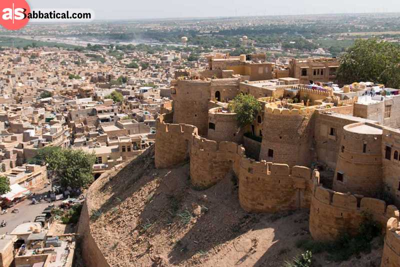 Jaisalmer Fort overlooking the Golden City.