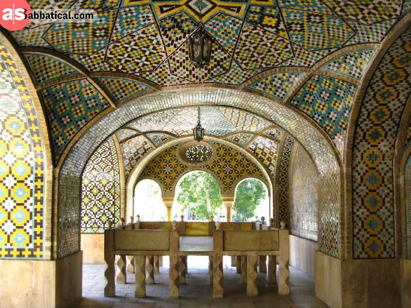 The amazing interior of Golestan Palace.