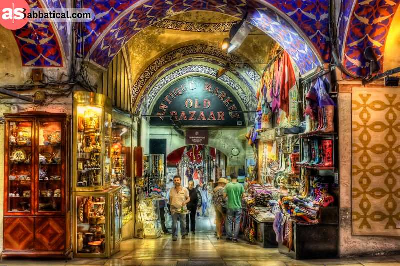 The Grand Bazaar in Istanbul is one of the largest covered markets in the world.