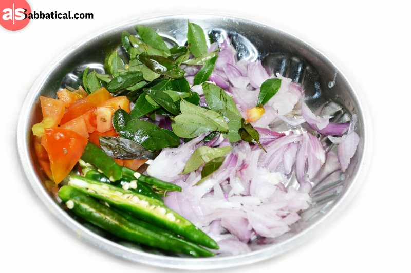 Where is Sri Lanka, you may try their awesome green salad.