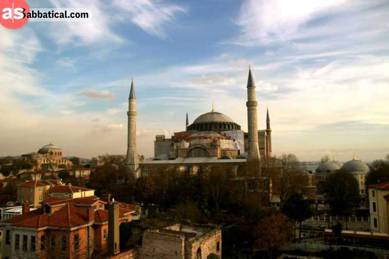 Hagia Sophia is the symbol of Istanbul.