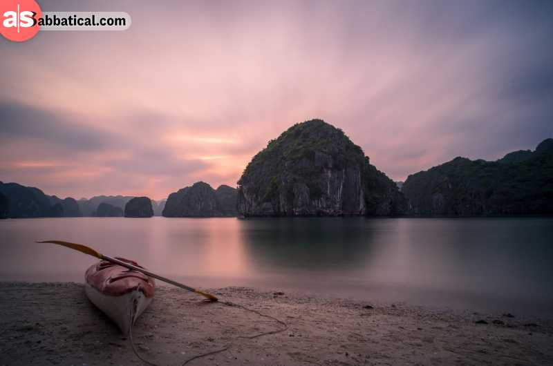 Ha Long Bay during sunrise