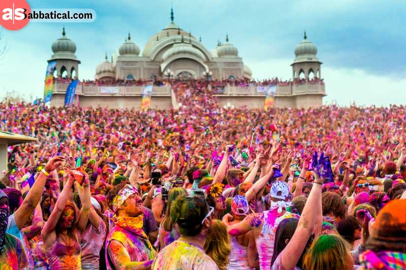 Holi Festival is most probably the most colorful festival in India.