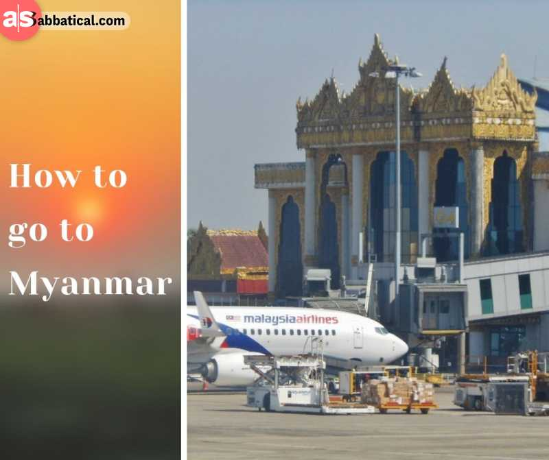 Flying to Myanmar is the best option to get there.