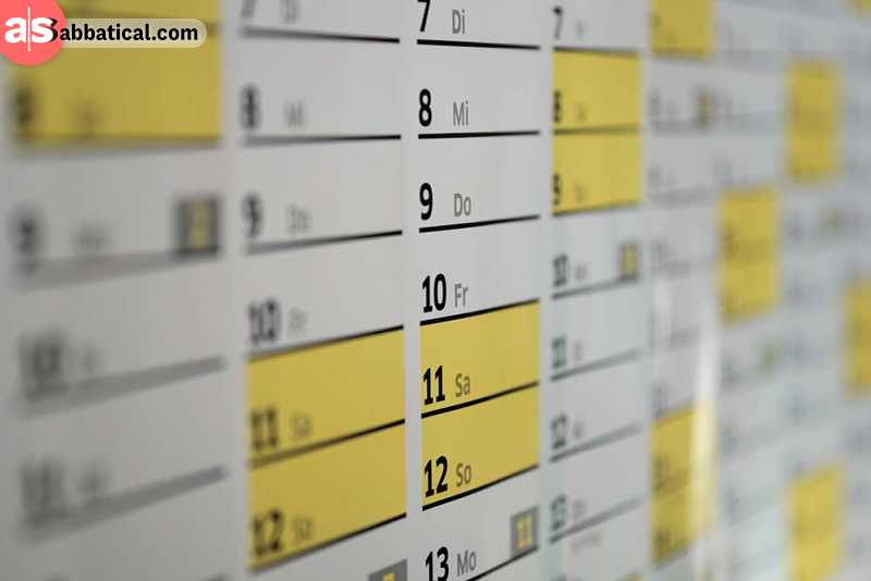 Learn how to schedule your day and make some order in your work/life balance!