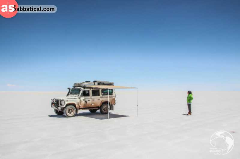 This is the vehicle Sergio and Eleni are driving through their overland adventures.