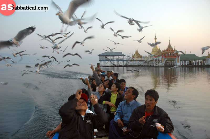 A large community has developed around the largest inland lake in SE Asia, Indawgyi Lake.