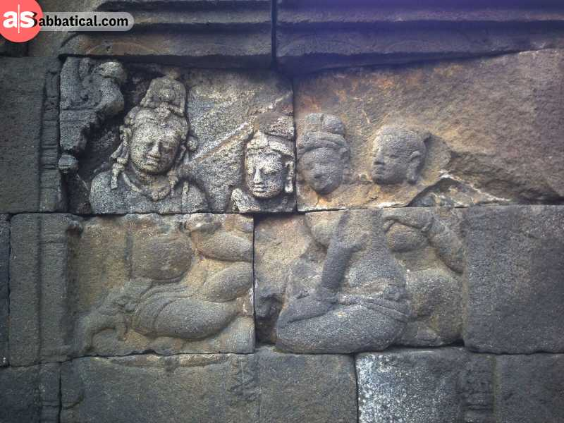 Indonesian history is influenced by Buddhism, Hinduism and Islam.