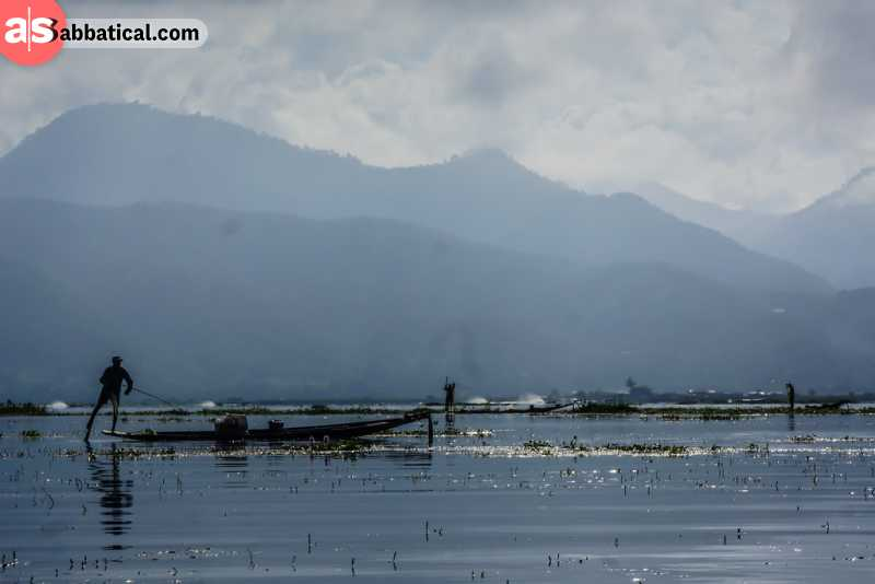 Inle Lake is a joy for a fisherman.