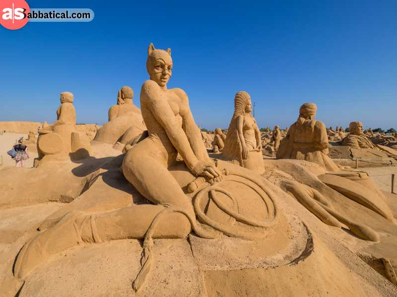 International Sand Sculpture Festival is one of the largest sand exhibitions in the world and is a sight to behold.