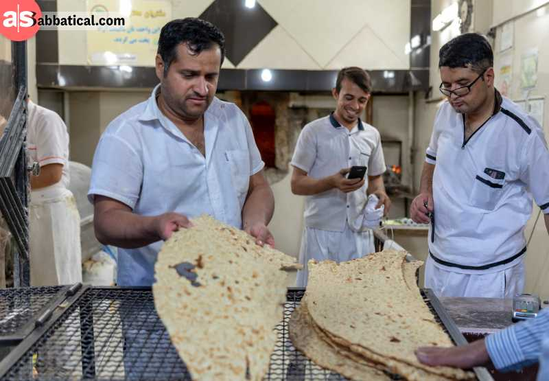 Flatbread in Iran is used in different variations.