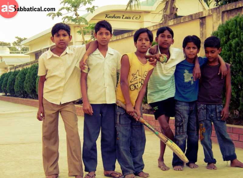 Group of kids in Jessore