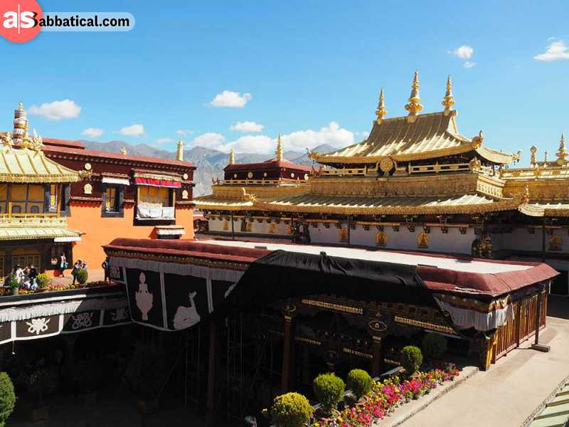 Jokhang Temple is known as the spiritual center of Tibet.