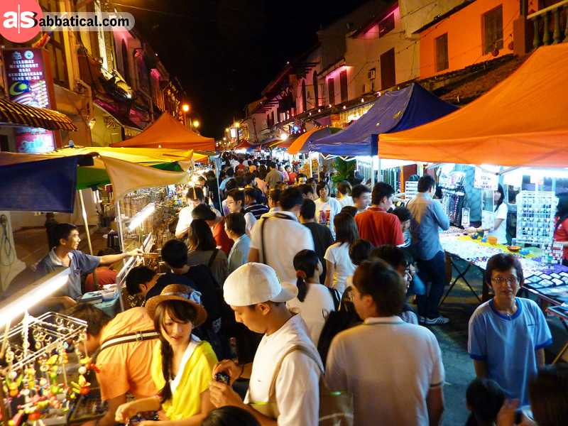 You can find the most delicious food in the city in the Jonker Street Night Market.
