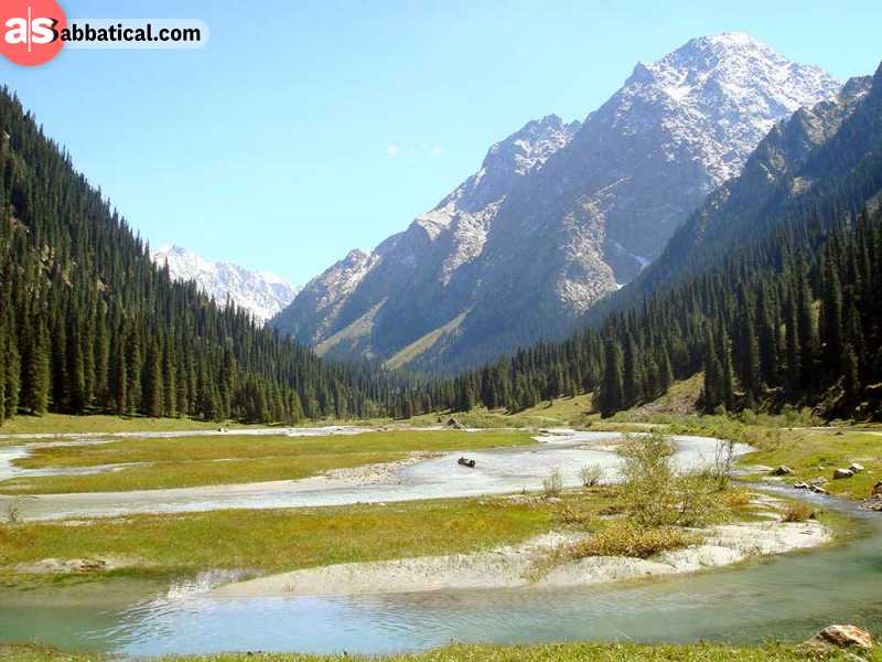 Where is Kyrgyzstan, there is a lot of nature for you to experience all year round. This is Karakol Valley.