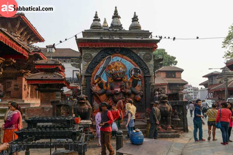 Durbar Square in Kathmandu is home to palaces and many ancient temples.
