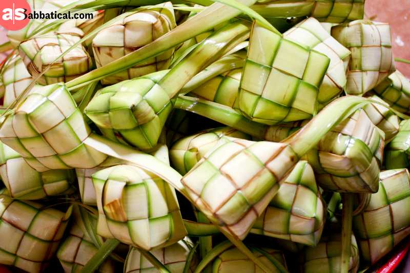 Ketupat is a perfect companion to Rendang dish.