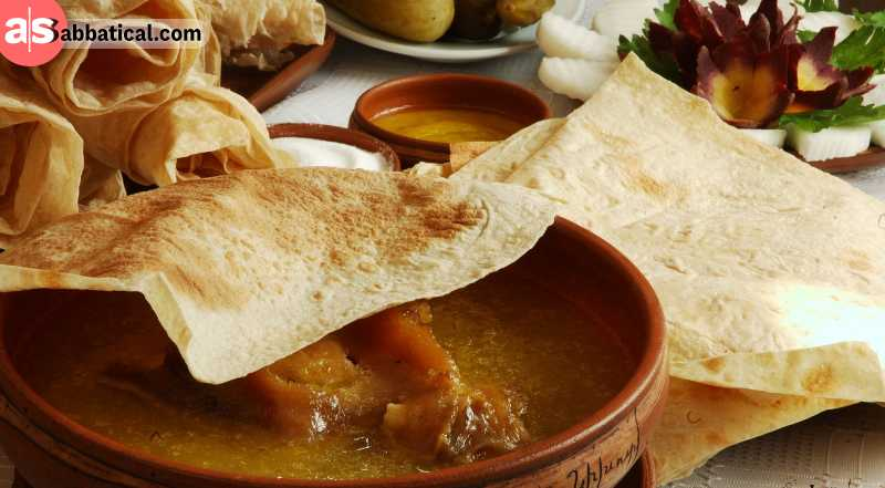You won't forget an Armenian soup. Khash is one of them, featuring 24h boiled beef or mutton legs. They also have soups with sour-milk, eggs, cow tails, apricots, mushrooms, and many other ingredients. If you like dumplings, try Manti, the Armenian dumpli