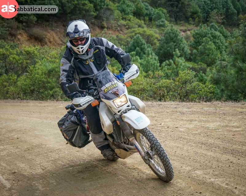The Suzuki DR650 motorcycle.