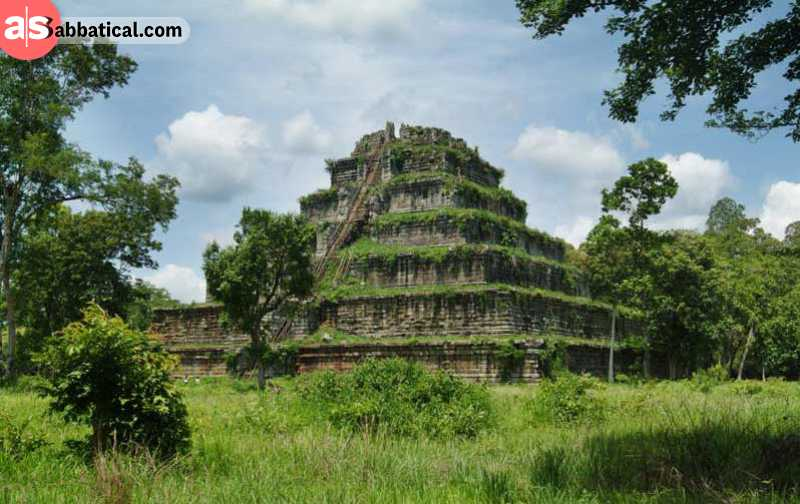 Koh Ker Temple is overgrown and beautiful, being located in a remote jungle.