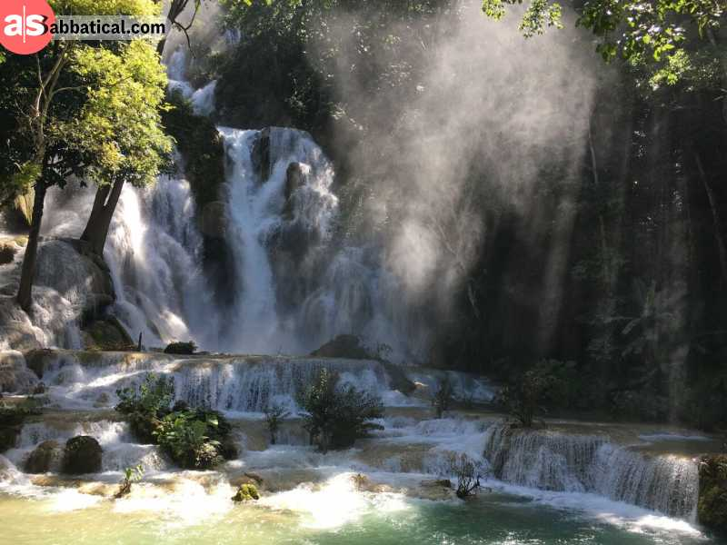 The natural wonders of Kuang Si Waterfall will leave you speechless.