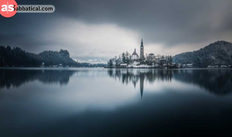 Lake Bled can really look like it was torn out from a fairytale book during December and the winter months.