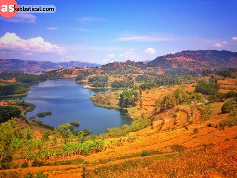 Lake Bunyonyi is the deepest lake in Uganda. It is a stunning site hidden among rocky mountains.