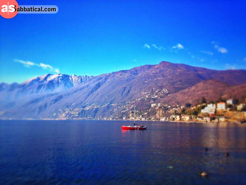 Lake Maggiore during a daylight