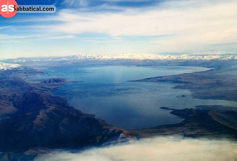 The grandiose Lake Sevan is located at 1,900 meters above sea level and is the largest body of water in the Caucasus area.